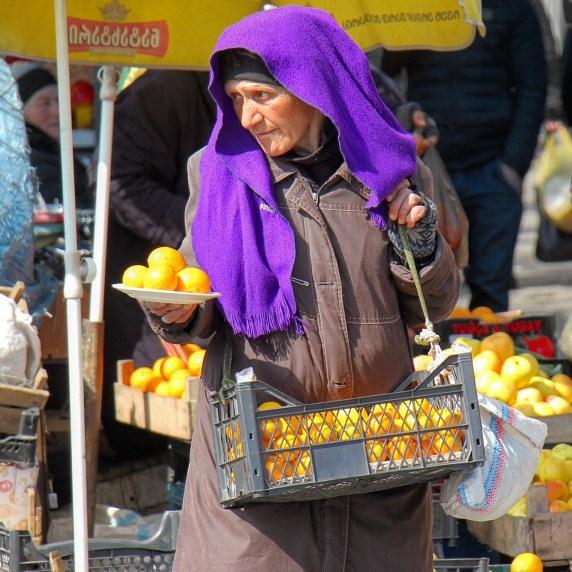 Vendors in Tbilisi, Georgia