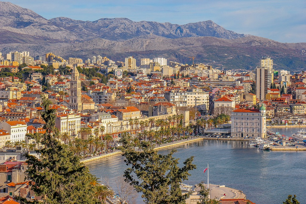 View of Split, Croatia from Marjan Hill Hike