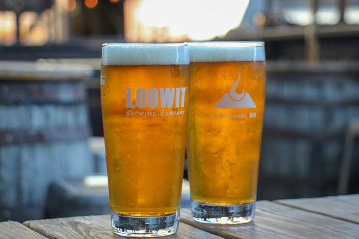 Cold Beers on the patio, Loowit Brewing, Vancouver, WA