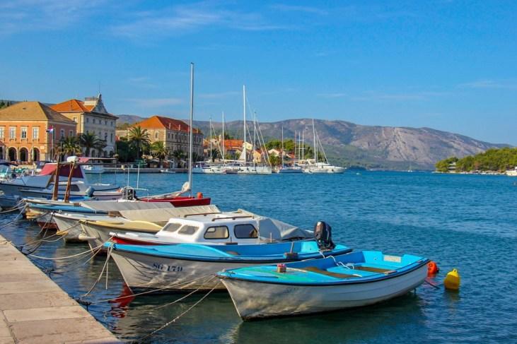 Boats in the harbor at Stari Grad Croatia