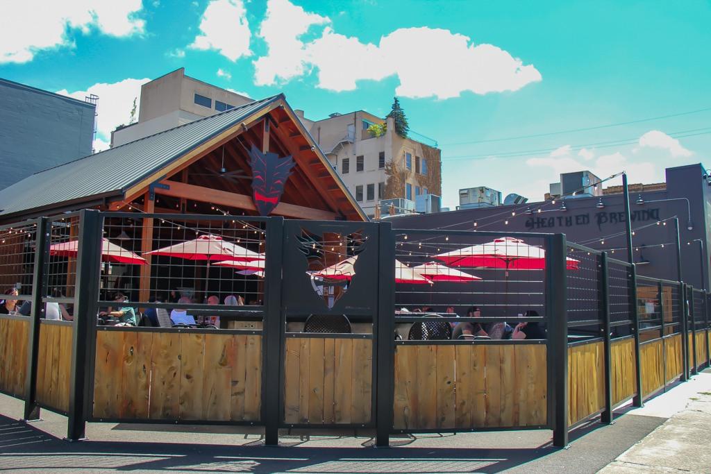 Always popular patio, Heathen Brewing Feral Public House, Vancouver, WA