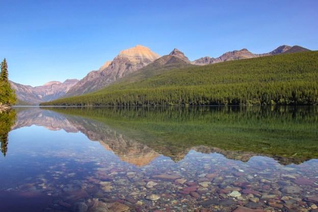 Amazing View Hiking Bowman Lake, Glacier NP, Montana
