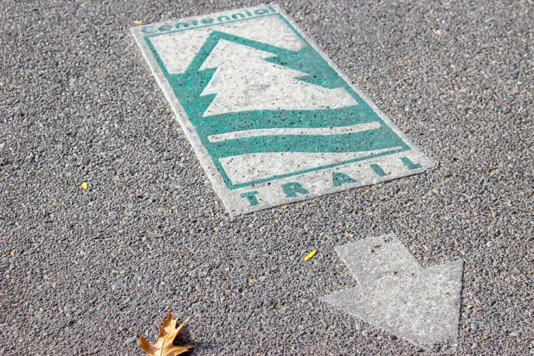 Follow along on the Centennial Trail Path, Spokane, WA