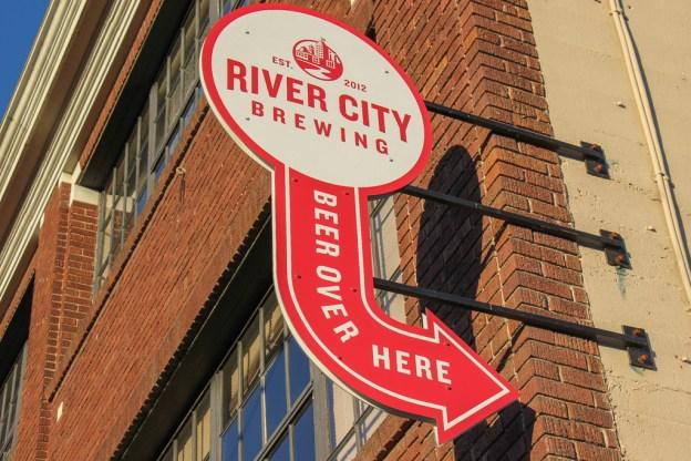Entrance to River City Brewing, Spokane, WA