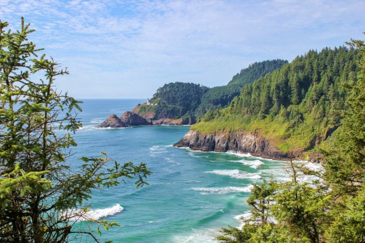 Best view of Heceta Lighthouse, Florence, Oregon