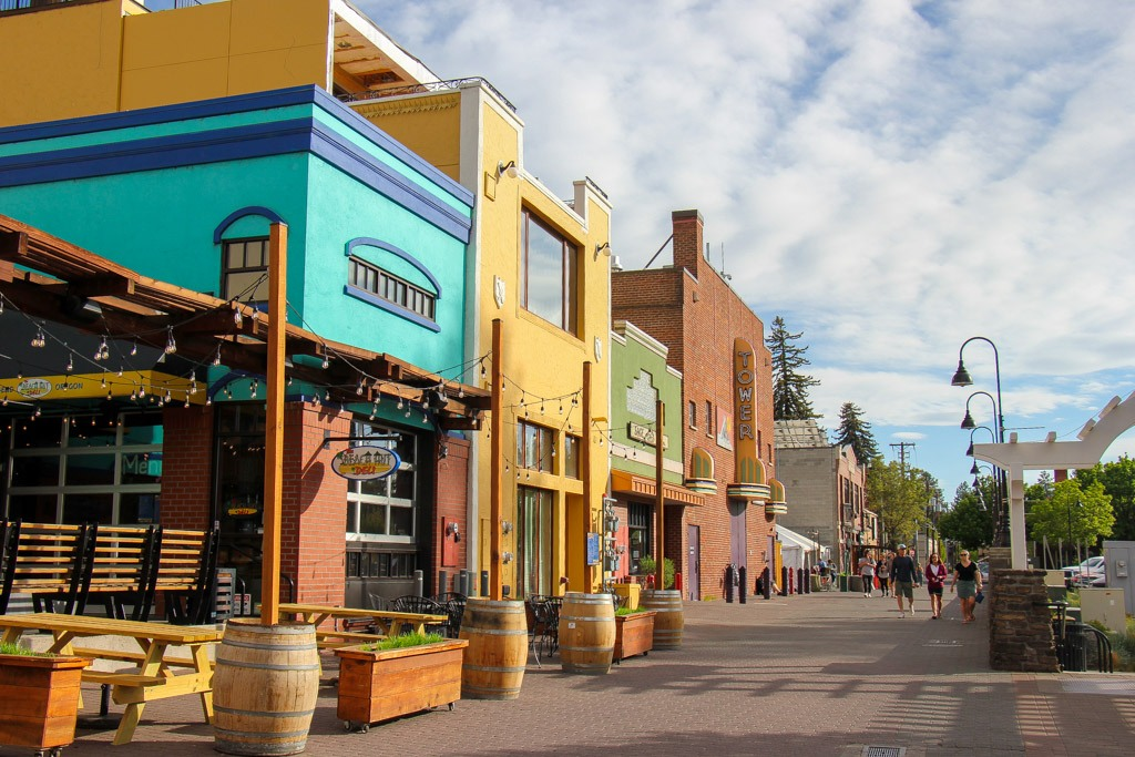 Shops and Bars in Old Town Bend, Oregon