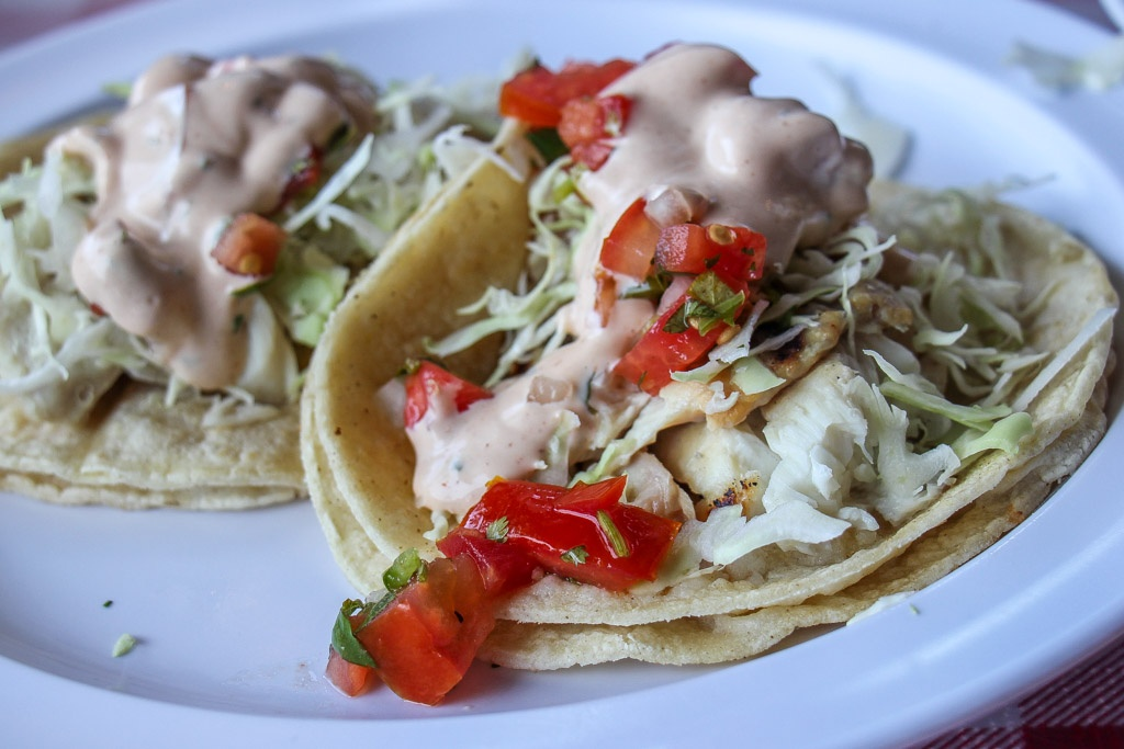 Our favorite Fish Tacos at Reel Inn, Malibu, California