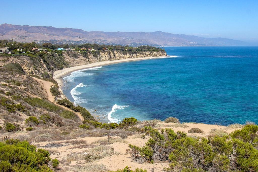 Beach view from Point Dume, Malibu, California