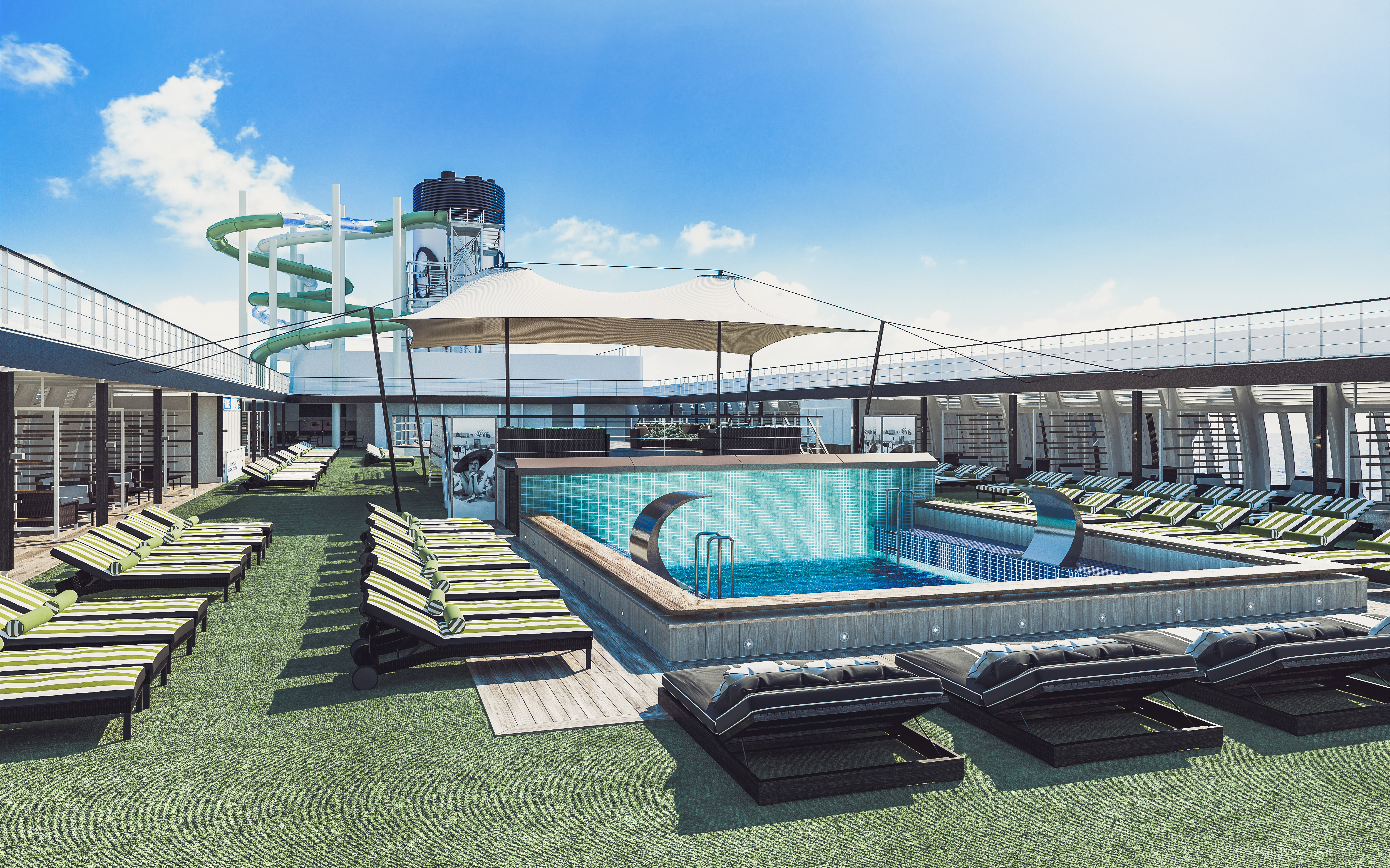 P&O Pacific Dawn - pool and slide
