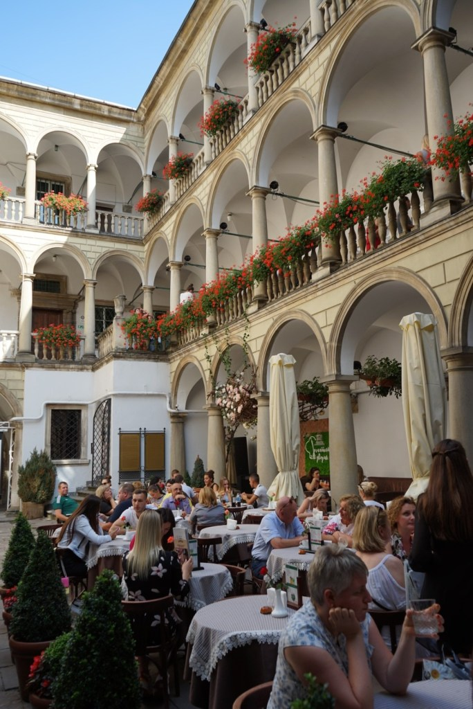 Restaurant at the Italian courtyard