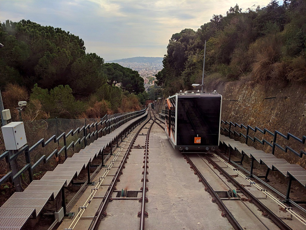 the funicular to Tibidabo in Barcelona