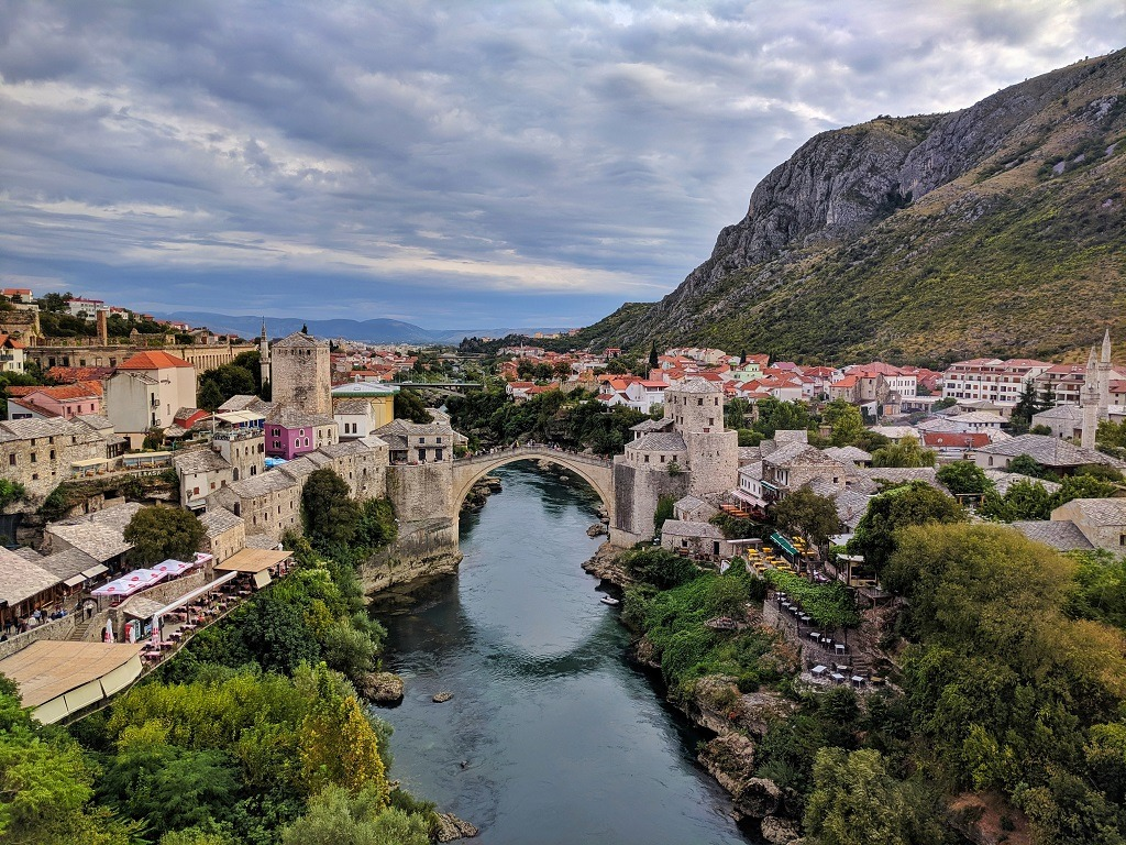 6 Things Do In Mostar: cthe view from the minaret of the mosque