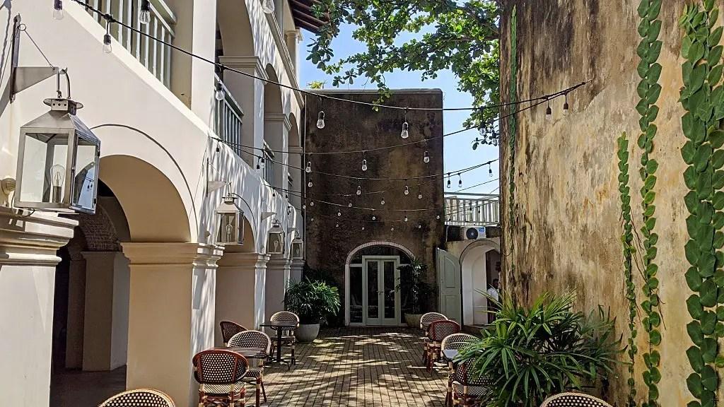 The Bartizan courtyard