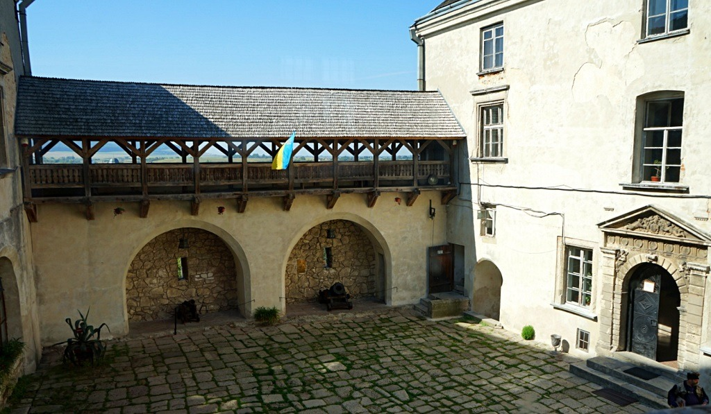 The courtyard of Olesko castle.