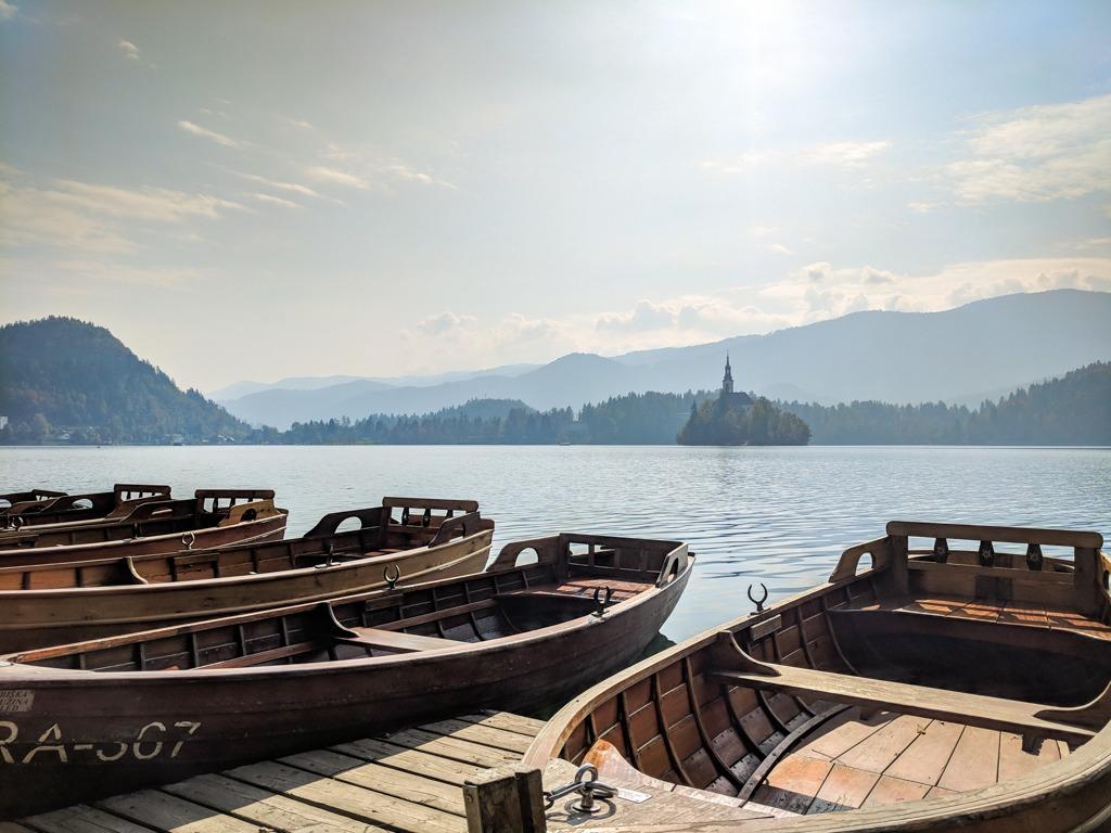 Rent a boat on Lake Bled