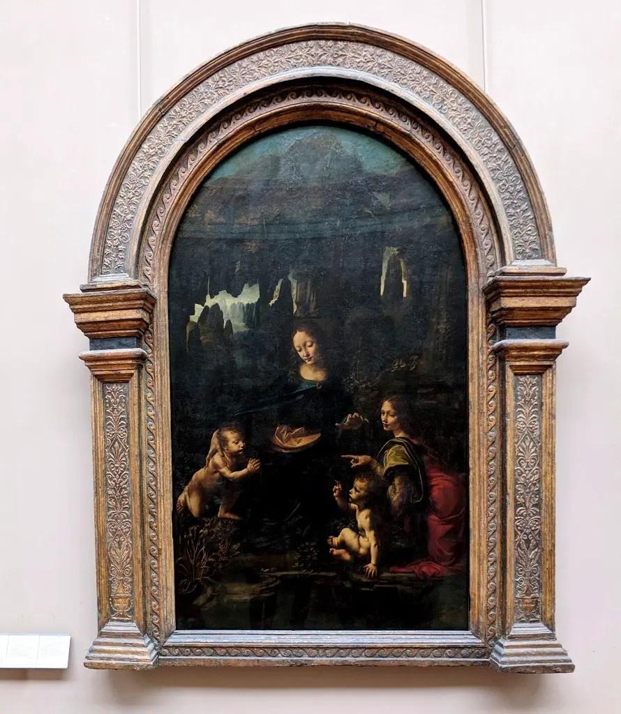 Vierge à l'Enfant avec saint Jean Baptiste et un ange by Leonardo da Vinci