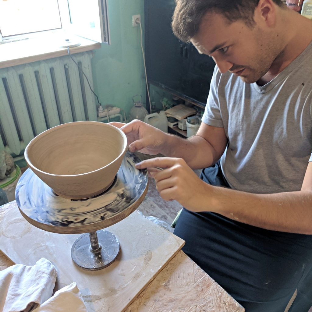 Pottery class in Lviv