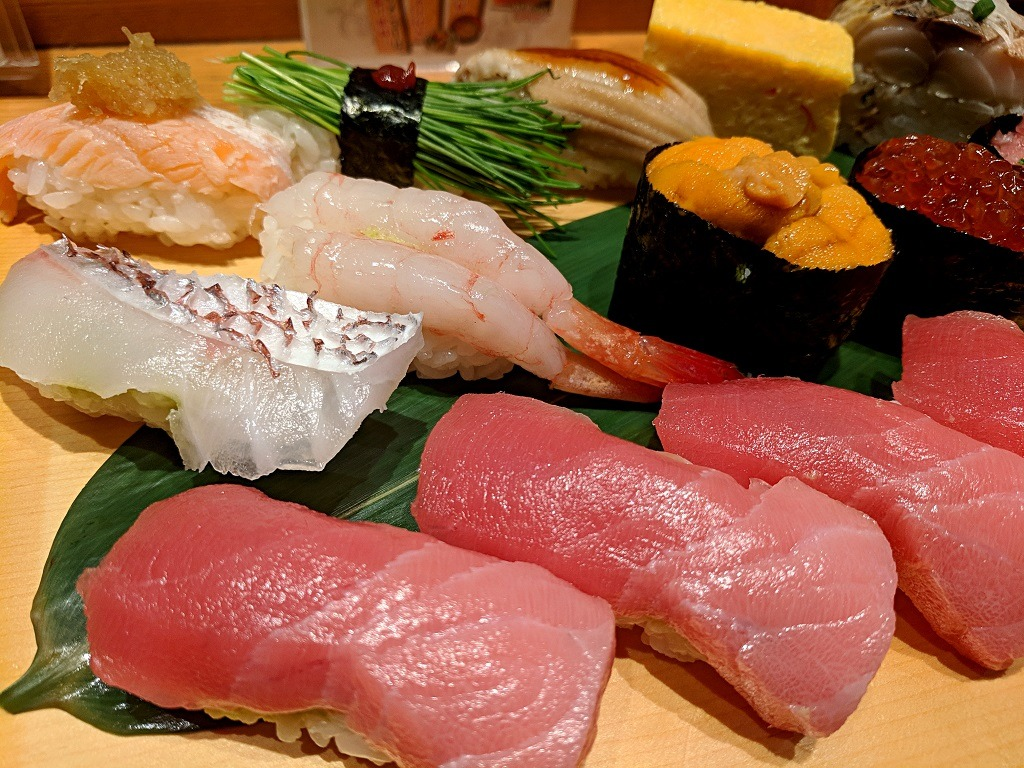 Sushi in Japan from sushizanmai