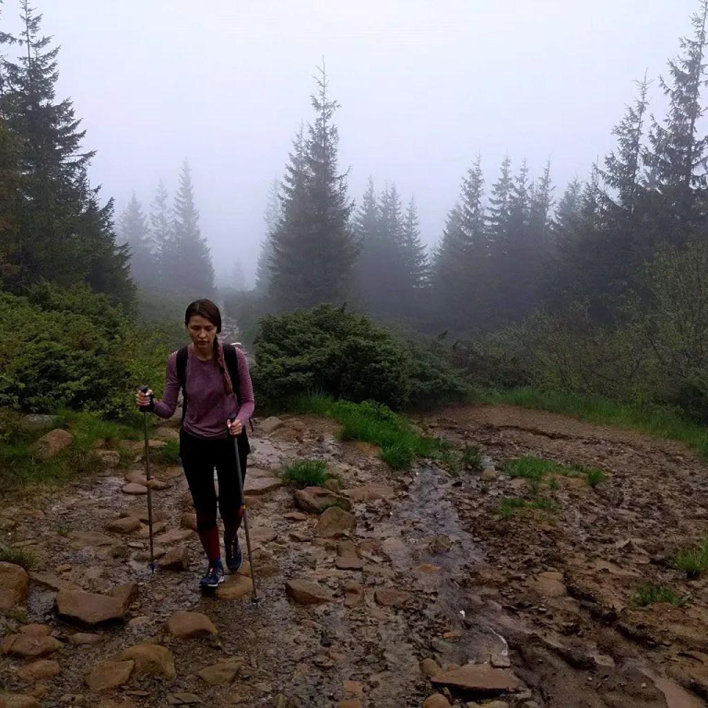 Alona hikes Hoverla