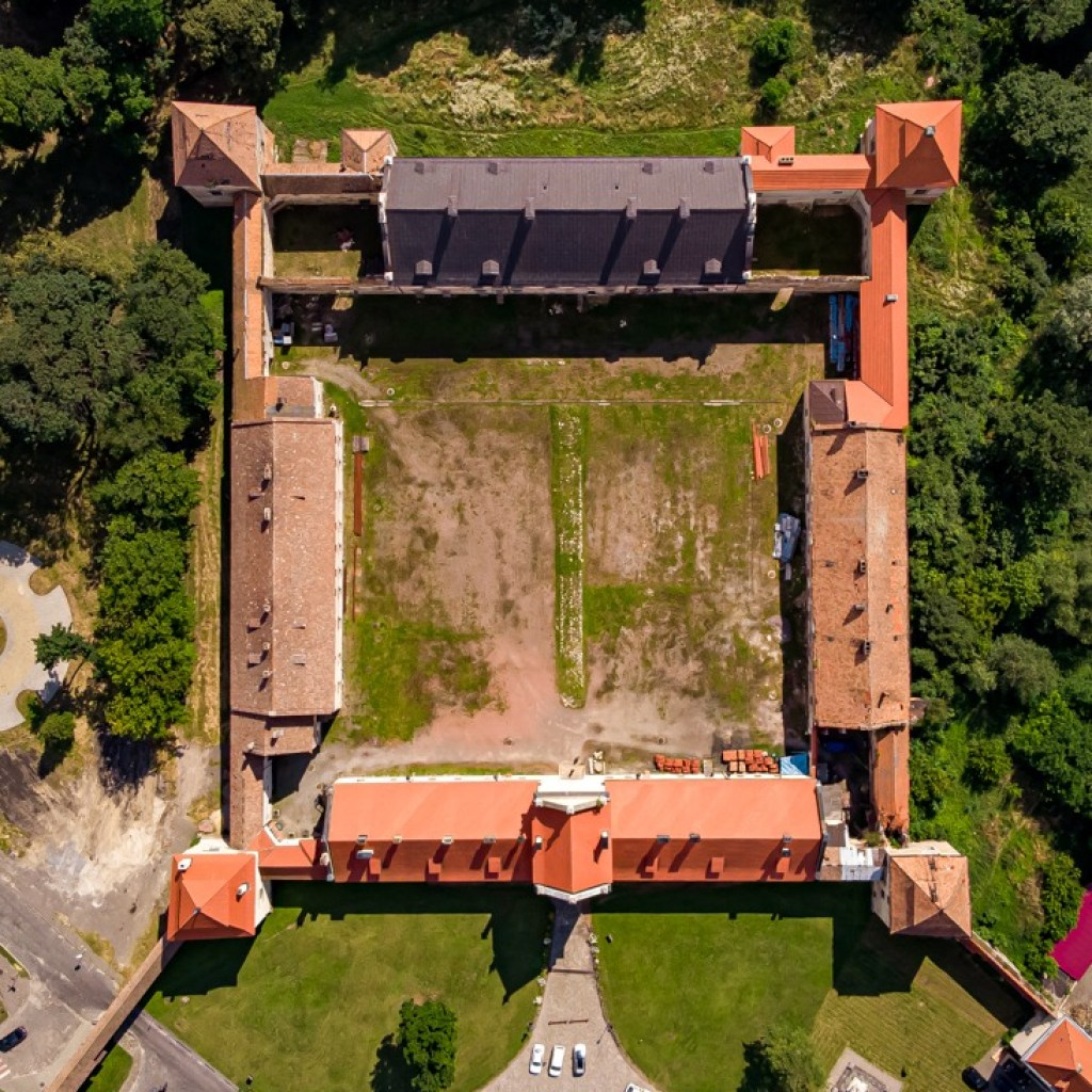 Drone photo of the castle