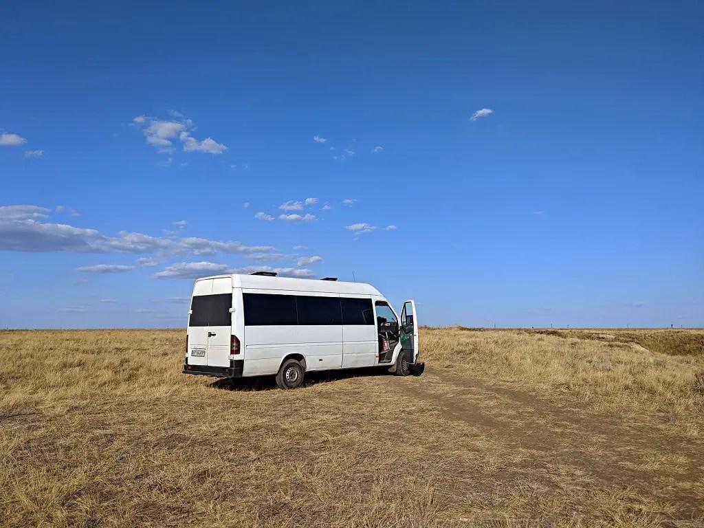 We took a van to the Cliffs