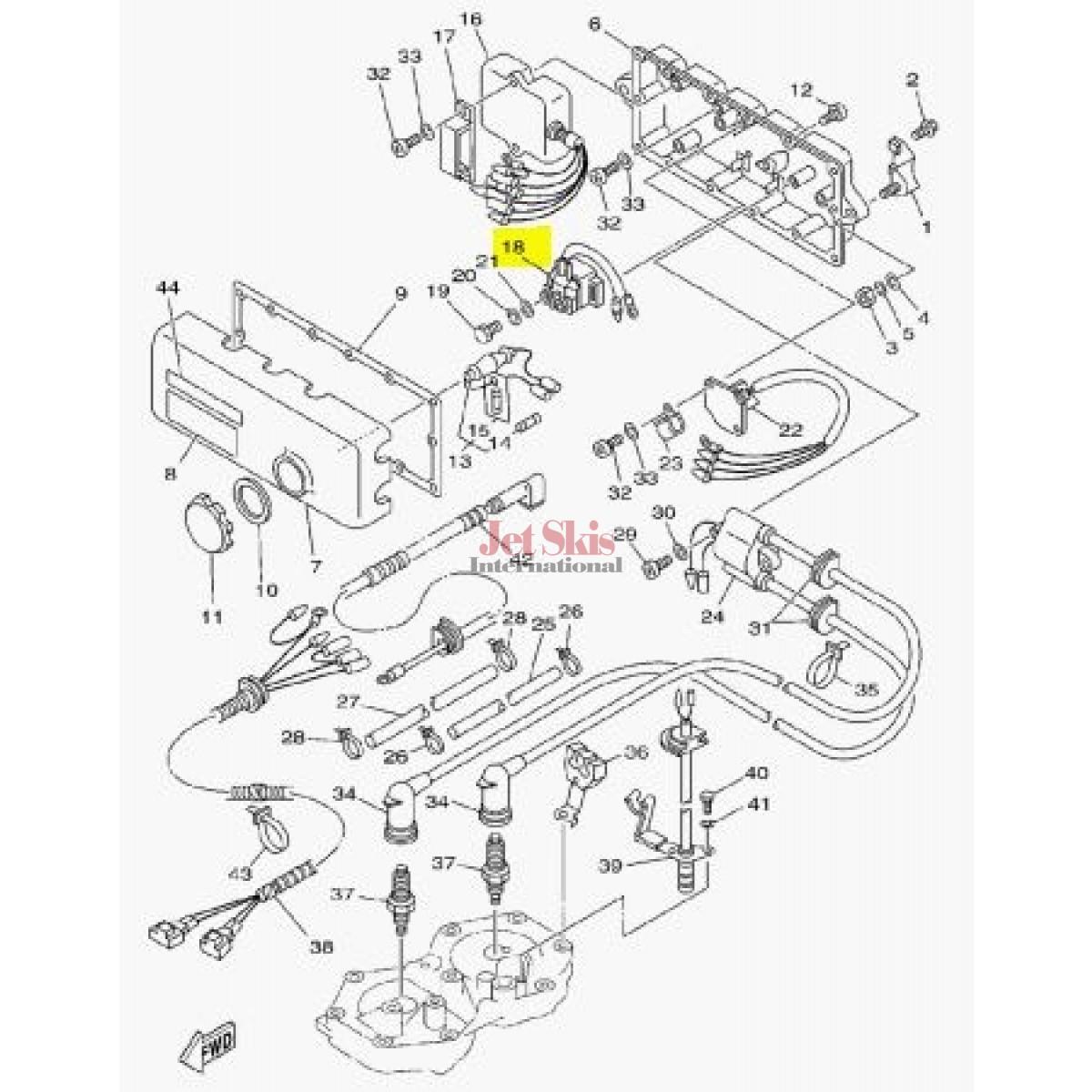 Yamaha 68n 00 00 Starter Relay Assy