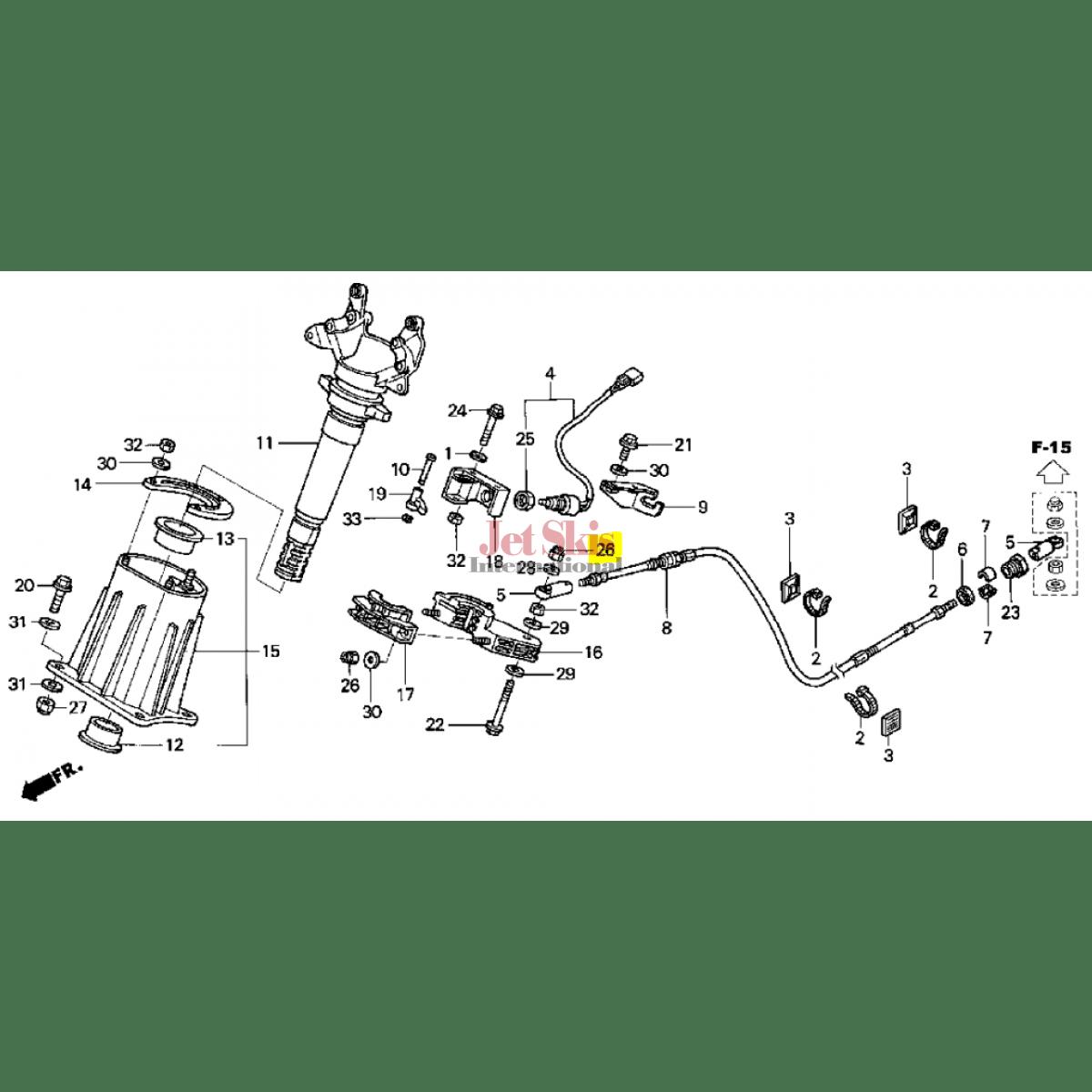 Honda Aquatrax Hw1 671 Nut Self Lock 6mm