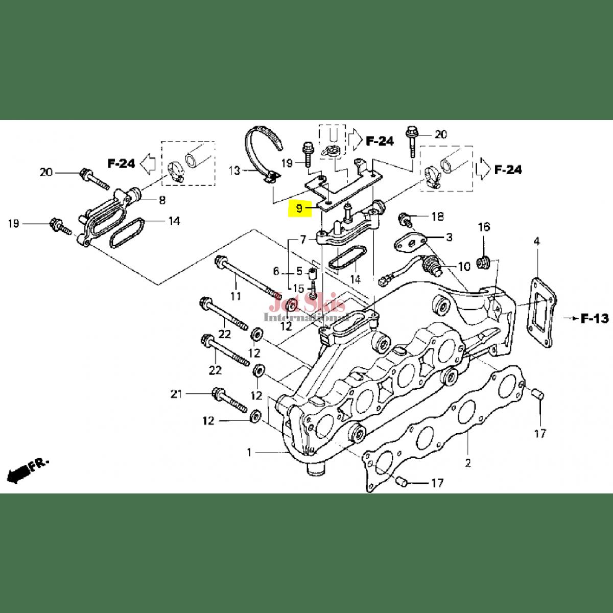 Honda Aquatrax Part Hw4 680 Holder Harness
