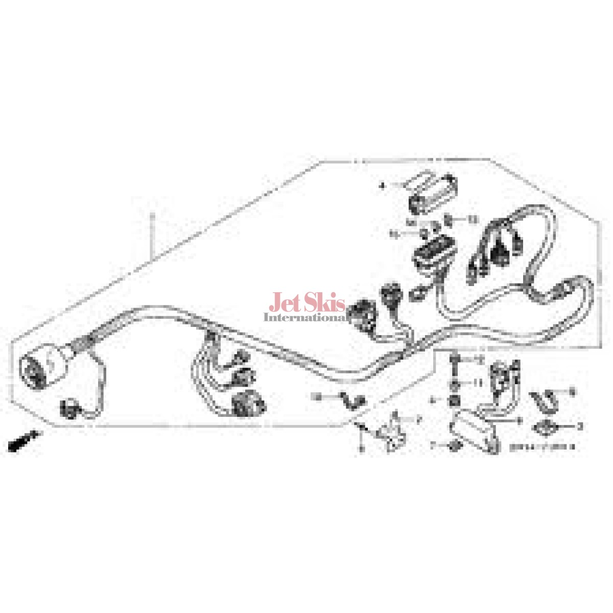 Honda Aquatrax Hw1 690 Main Wire Harness