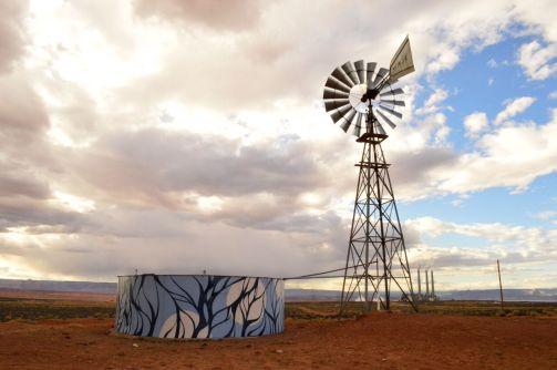water tank + windmill