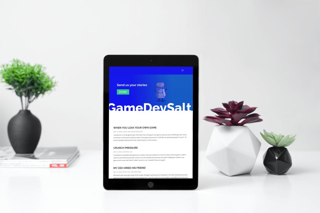 GameDevSalt on an iPad