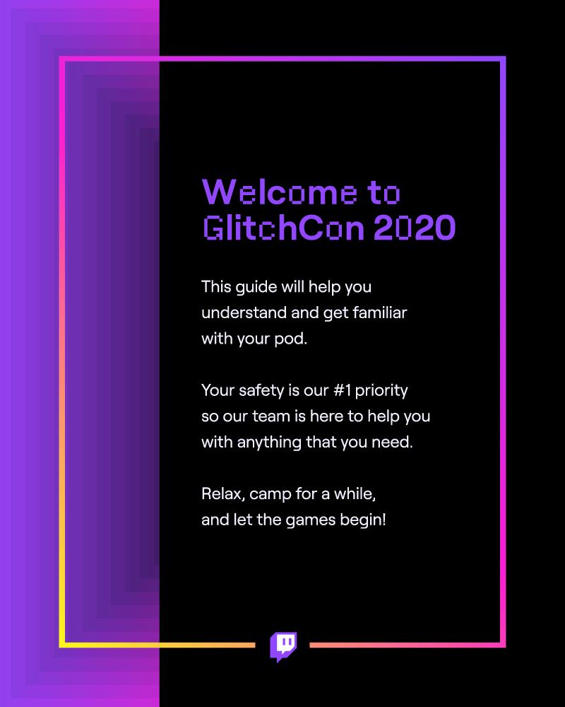 Twitch GlitchCon 2020 Hospitality Menu Cover