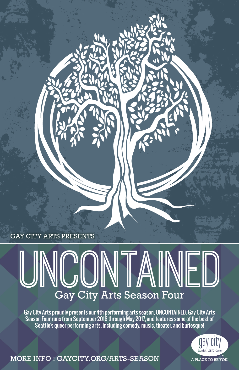 Poster for Gay City Arts: Uncontained