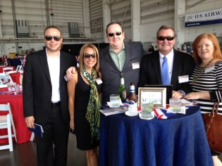 L to R:David Montemerano-CLT GM, Larry Wright-Director of Hub Operations, Blake Schultz-VP Sales and Marketing, Georgianne Graves-CFO, Tony Miller and Mariela Feliciano-HR Director