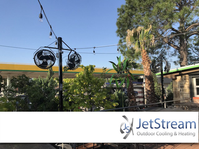 dallas commercial outdoor misting fans