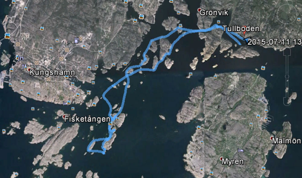 Inte så långt idag, bara 12 km, men fina 12 km var det!