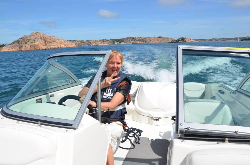 Båtkaptenen är nöjd.