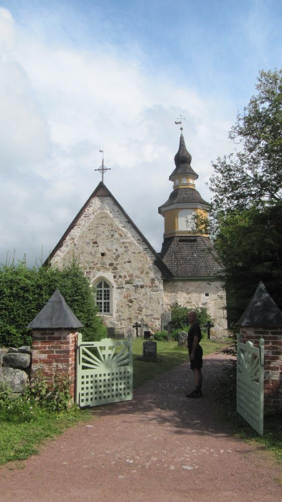 St Annas kyrka bjöd på cache till mig och historia till Birger