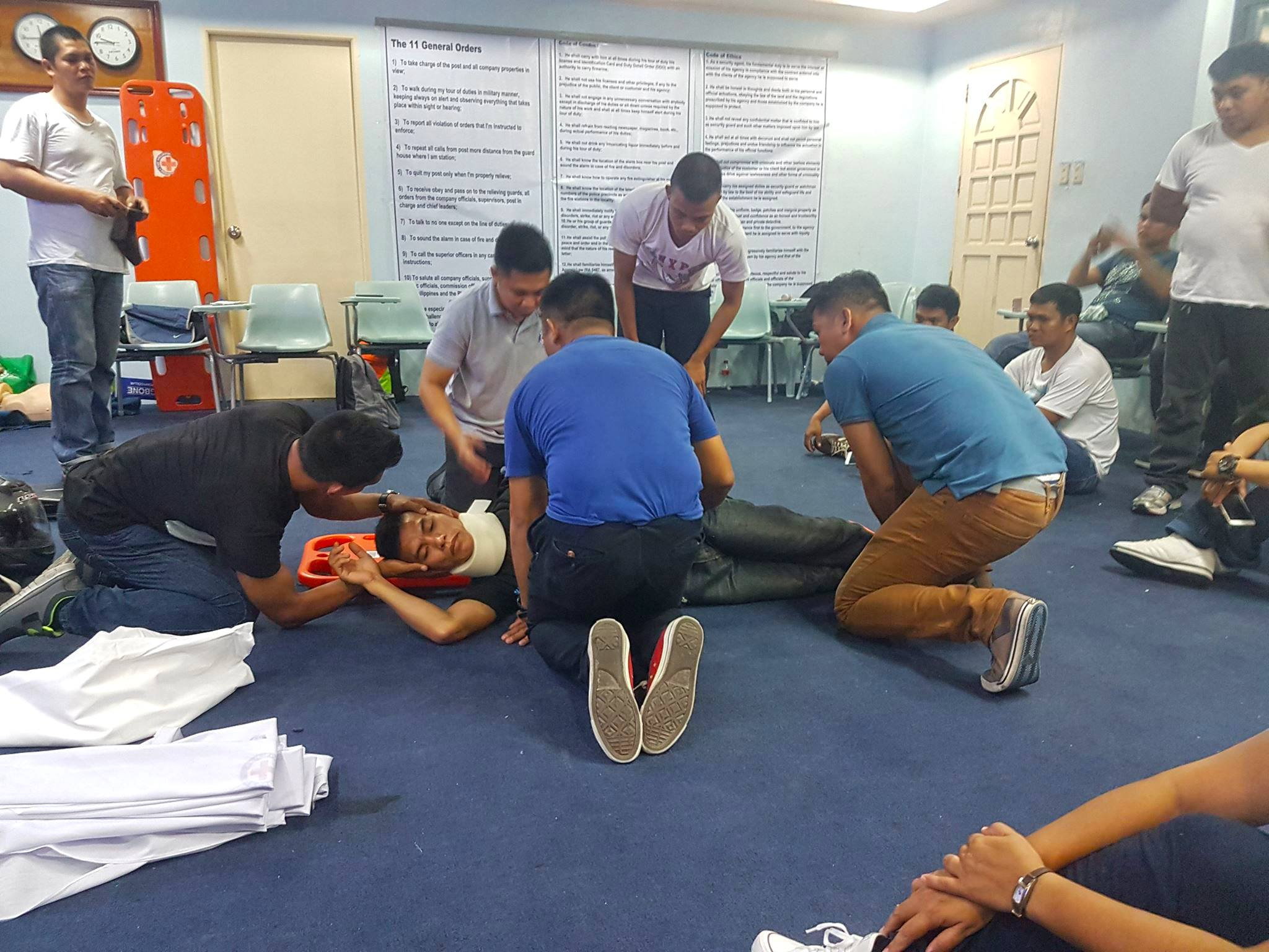 First Aid Training Of Jettforce Security Personnel
