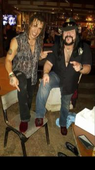 Vinnie Paul with matching shoes he got me for my birthday. :)