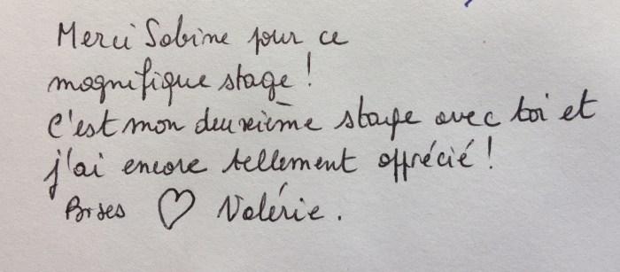 Commentaire de Valérie