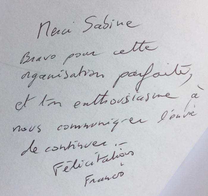 Commentaire de Francis