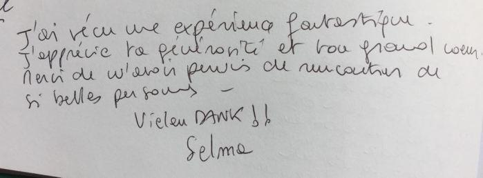 Commentaire de Selma