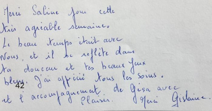 Commentaire de Gislaine