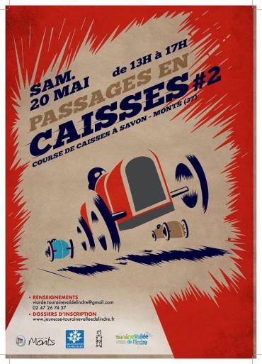 Affiche de la course de la caisses à savon le 20 Mai à Monts