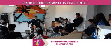 """Rencontre en Benjamin, éducateur sportif aux """"Océades Tours"""", et les jeunes Montois"""