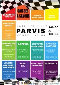 Programme du parvis de l'hôtel de ville de Monts !