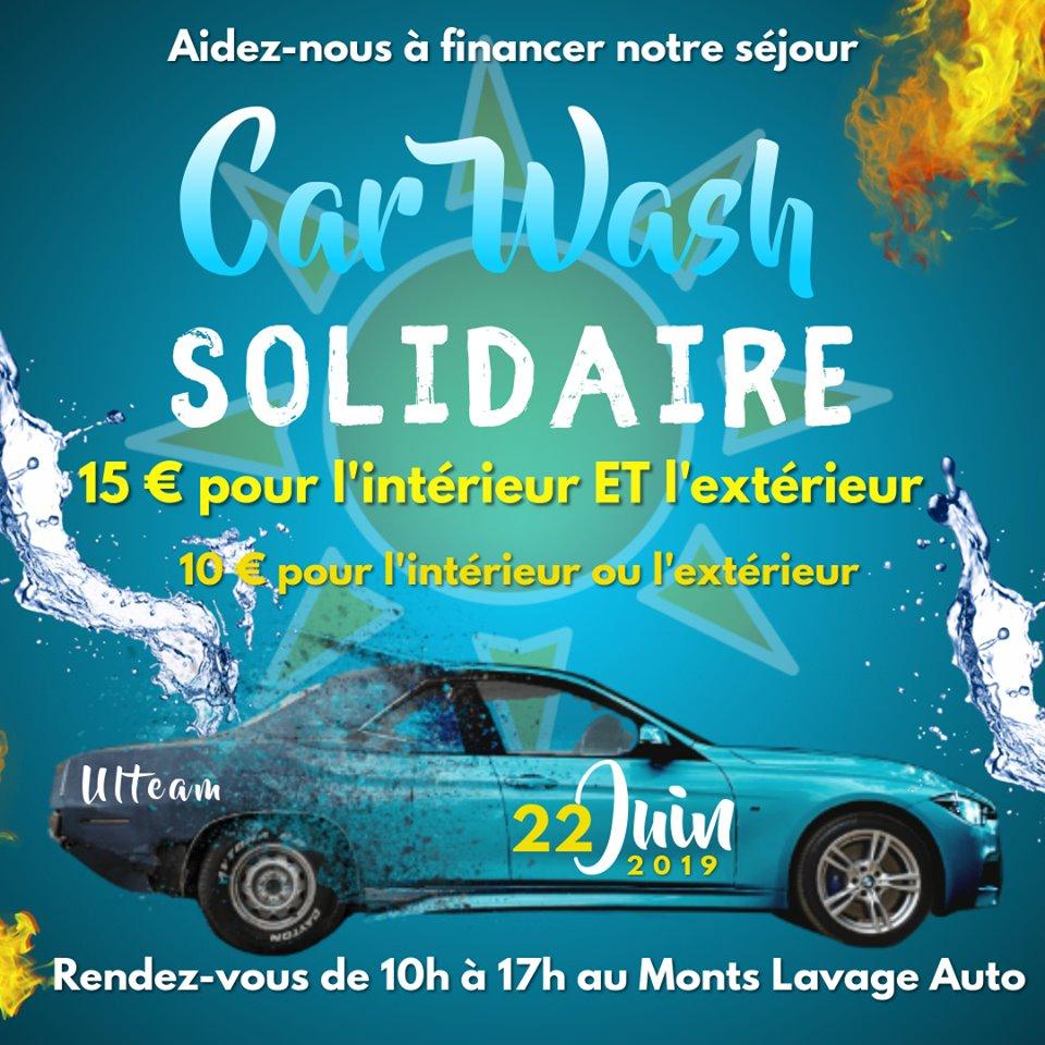 Affiche de la journée carwash (nettoyage automobile)