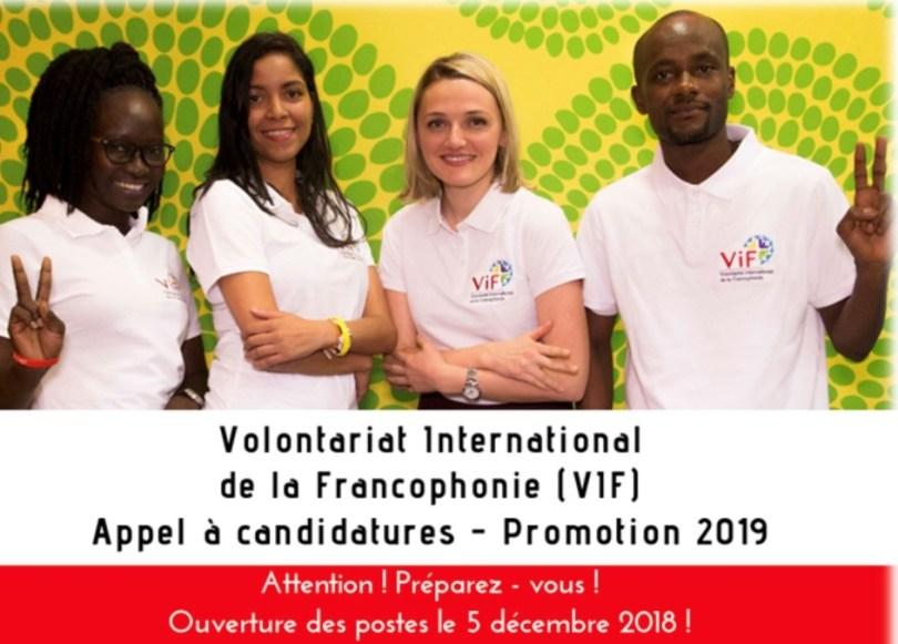 VIF - PROLONGATION DE L'APPEL À CANDIDATURE - 9 JANVIER 2019 ... Image 1