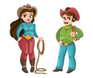 chasse au trésor cowboy à imprimer